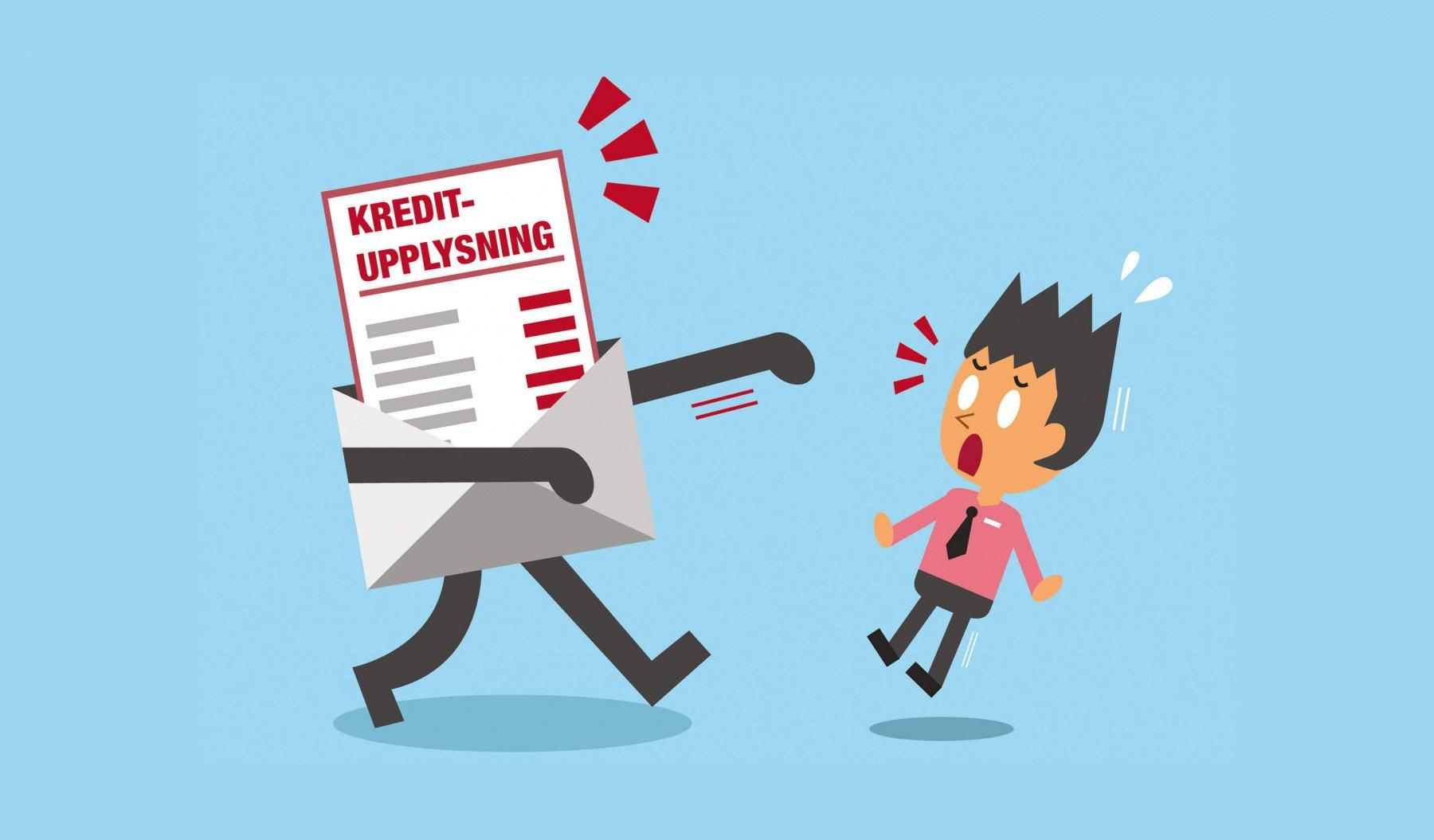 Animerad kreditupplysning i brev skrämmer en gubbe