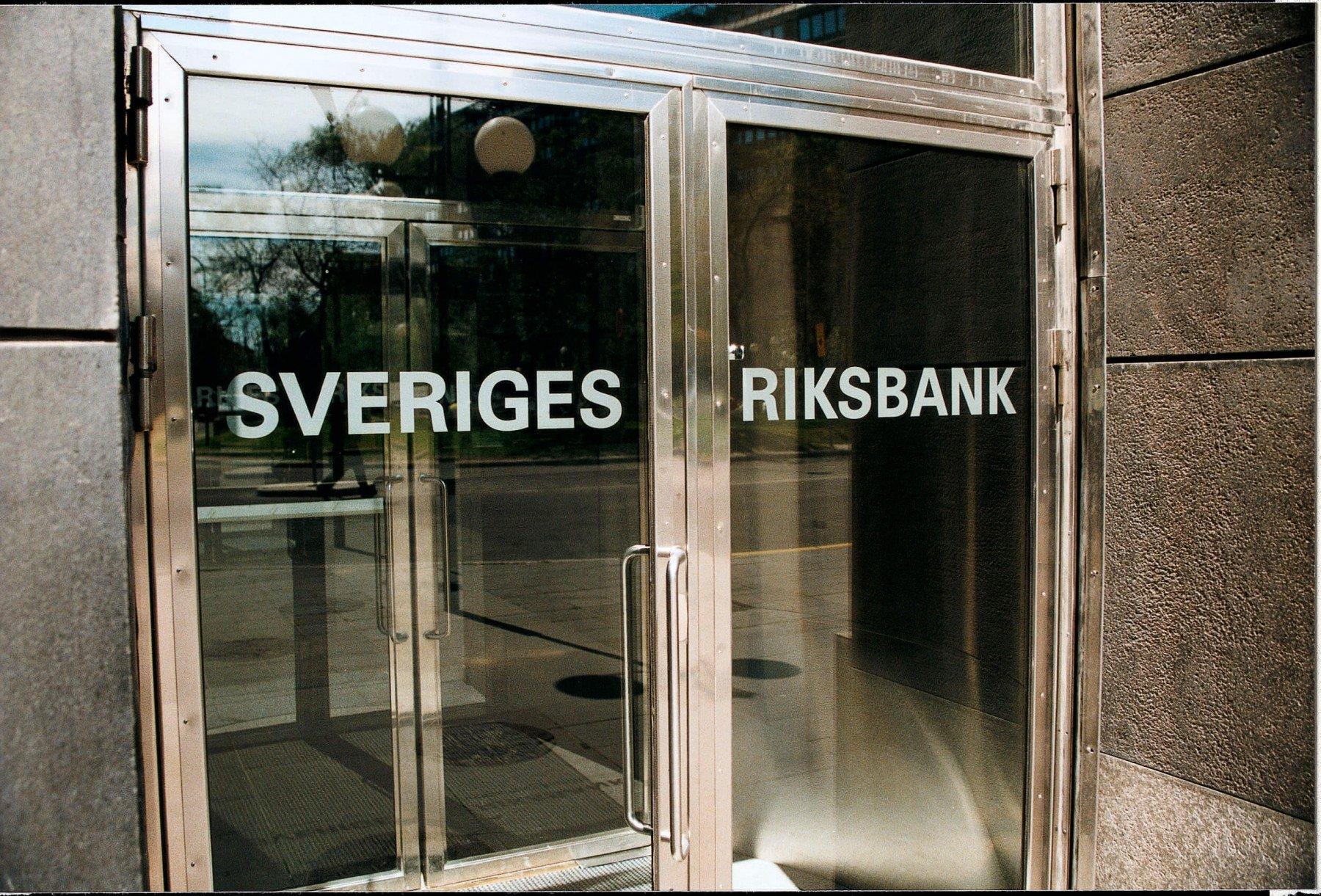 Dörrarna till Sveriges Riksbank