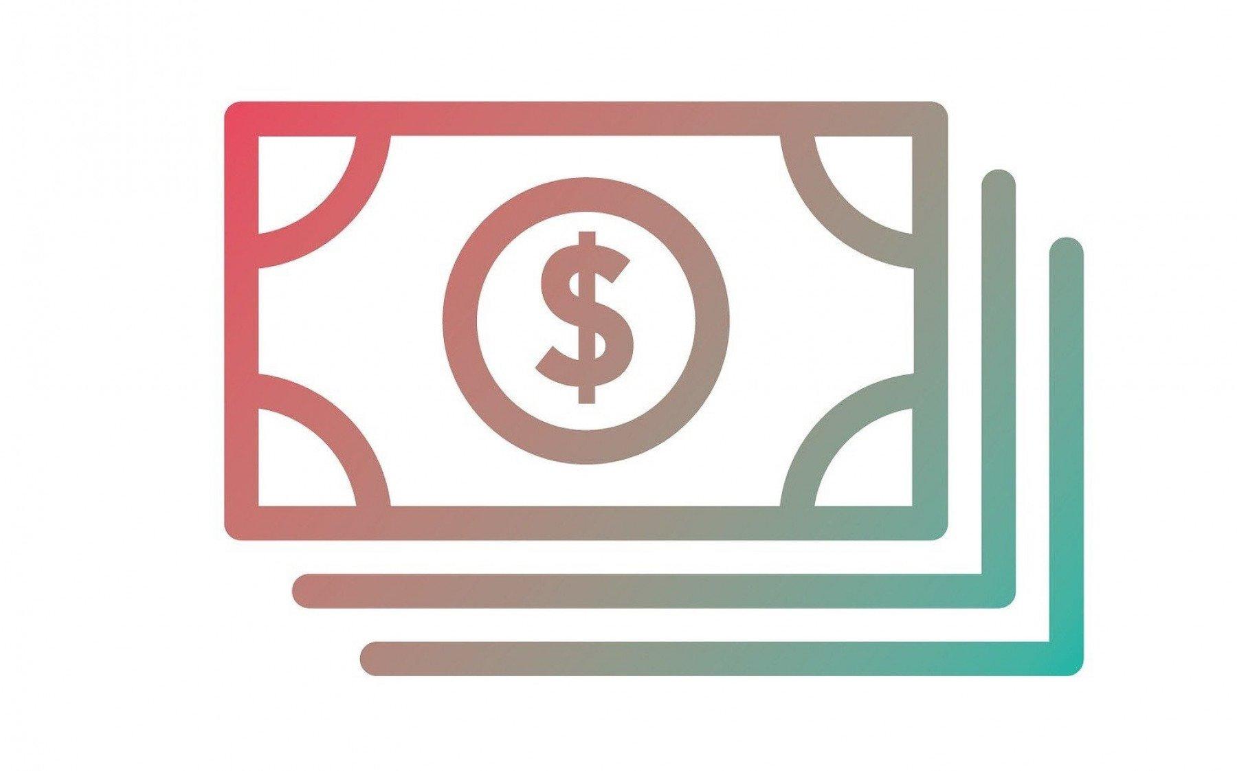 Tecknad bild på dollarsedlar